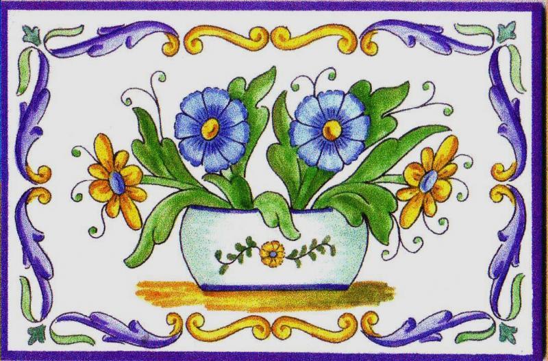 Cer mica art stica valencia azulejos y gres decoracion - Azulejos con flores ...