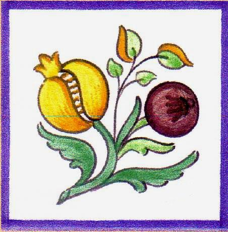 Azulejos de flores azulejos otomanos estampado de flores - Azulejos con flores ...