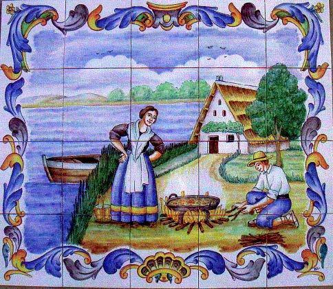 Cer mica art stica valencia azulejos y gres cuadros y for Azulejos de ceramica